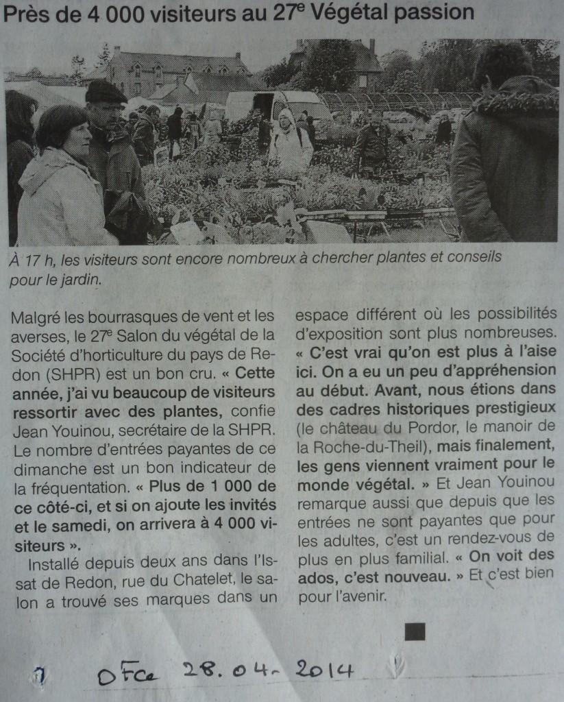 Article paru dans Ouest France